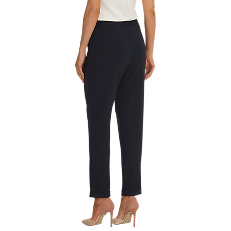 Buy Betty Barclay Pull-On Crepe Trousers, Dark Sky Online at johnlewis.com