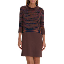 Buy Betty Barclay Graphic Print Dress, Dark Blue/Brown Online at johnlewis.com