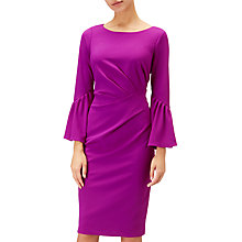 Buy Adrianna Papell Plus Size Knit Crepe Sheath Dress, Deep Berry Online at johnlewis.com