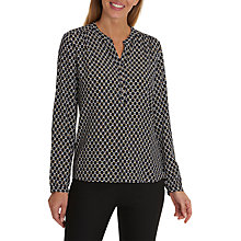Buy Betty Barclay Graphic Print Blouse, Dark Blue/Cream Online at johnlewis.com