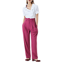 Buy Finery Manton High Waisted Trousers, Rose Pink Online at johnlewis.com