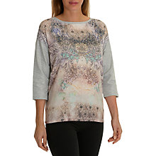 Buy Betty Barclay Embellished Printed Top, Grey/Purple Online at johnlewis.com