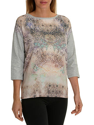 Buy Betty Barclay Embellished Printed Top, Grey/Purple, 6 Online at johnlewis.com