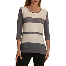 Buy Betty Barclay Shimmer Stripe Top, Grey/Beige Online at johnlewis.com