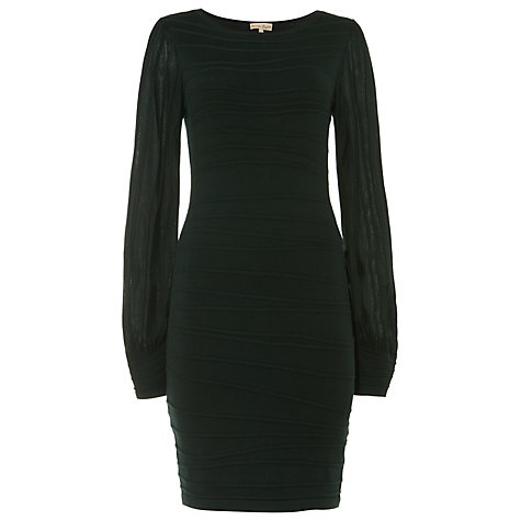 Buy Phase Eight Benita Balloon Sleeve Dress, Pine Green Online at johnlewis.com