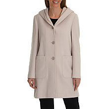 Buy Betty Barclay Hooded Wool Coat, Powder Beige Online at johnlewis.com