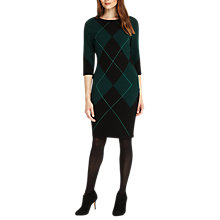 Buy Phase Eight Adriene Argyle Knitted Dress, Pine Online at johnlewis.com