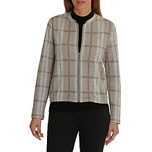 Buy Betty Barclay Check Blouson Jacket, Taupe/Grey Online at johnlewis.com