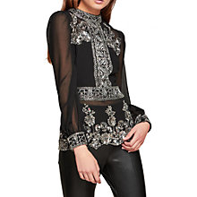 Buy Miss Selfridge Grace Embellished Blouse Online at johnlewis.com