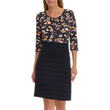 Buy Betty Barclay Floral Print Jersey Dress, Dark Blue Online at johnlewis.com