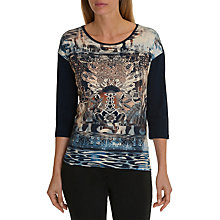 Buy Betty Barclay Graphic Print Top, Dark Blue Online at johnlewis.com