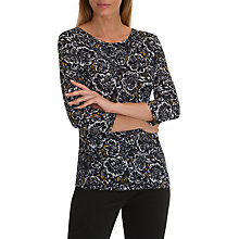 Buy Betty Barclay Floral Print Top, Dark Blue/Cream Online at johnlewis.com