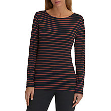 Buy Betty Barclay Striped T-Shirt, Dark Blue/Brown Online at johnlewis.com