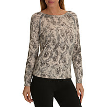 Buy Betty Barclay Embellished Print Jumper, Grey Online at johnlewis.com