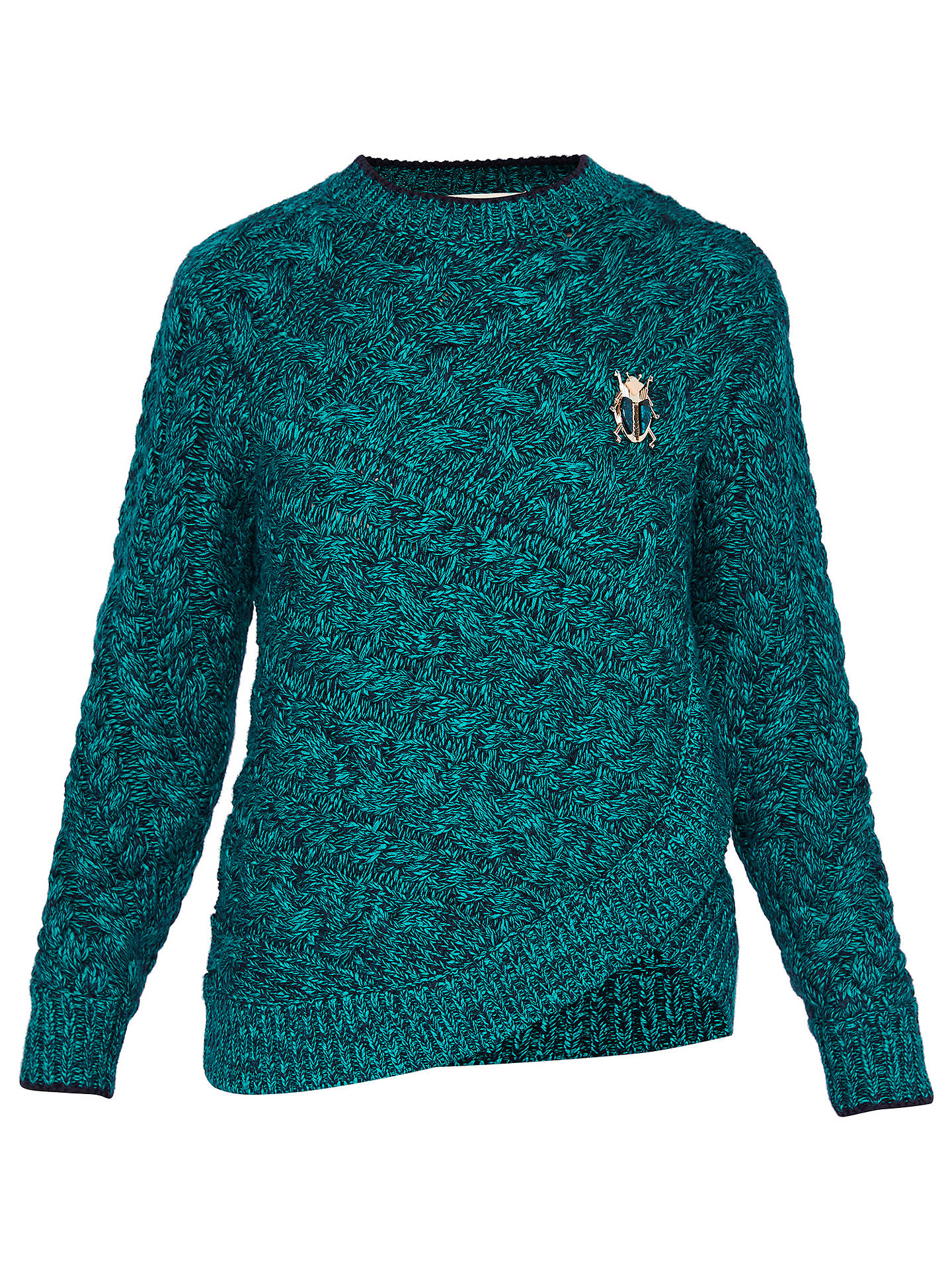 Ted Baker Colour By Numbers Charo Cable Knit Jumper at John Lewis ...