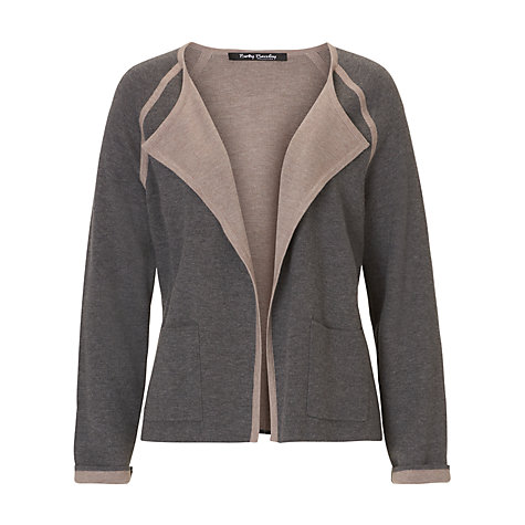 Buy Betty Barclay Waterfall Cardigan, Middle Grey Melange Online at johnlewis.com