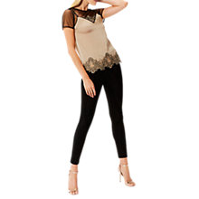 Buy Coast Nia Lace Blouse, Mocha/Charcoal Online at johnlewis.com