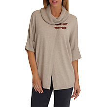 Buy Betty Barclay Short Sleeved Wrapped Jumper, Taupe Melange Online at johnlewis.com