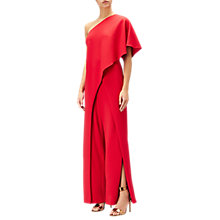 Buy Adrianna Papell Flutter One Shoulder Jumpsuit, Red Online at johnlewis.com