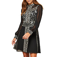 Buy Miss Selfridge Grace Embellished Mini Dress, Black Online at johnlewis.com