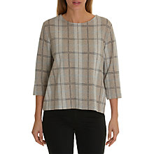 Buy Betty Barclay Checked Top, Taupe/Grey Online at johnlewis.com