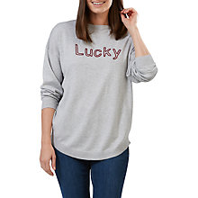 Buy Sugarhill Boutique Shona Lucky Chainstitch Jumper, Grey/Wine Online at johnlewis.com