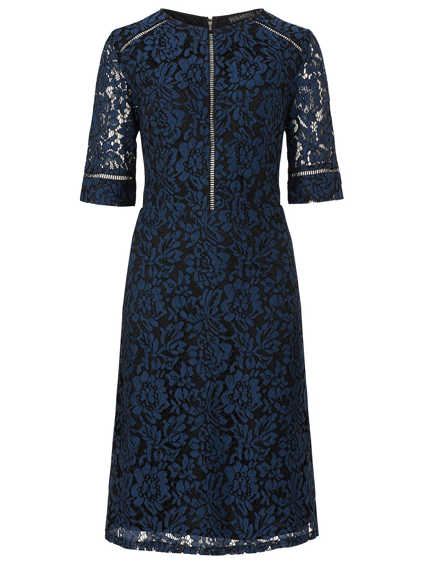 Buy Sugarhill Brighton Rosemary A-Line Lace Dress, Navy/Black, 8 Online at johnlewis.com