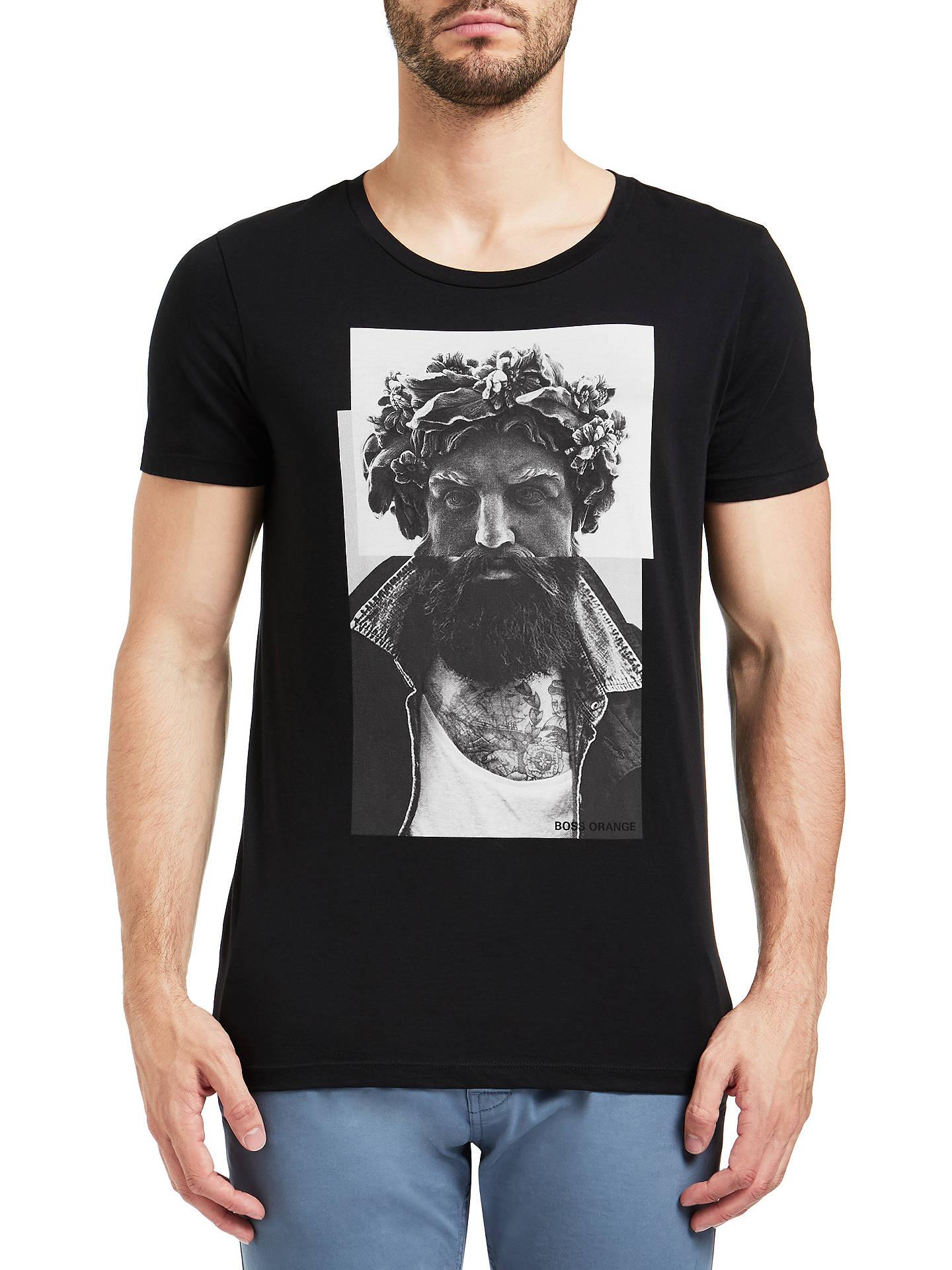 86fd8427a Buy BOSS Orange Taxable T-Shirt, Black, S Online at johnlewis.com ...