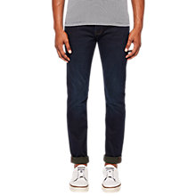 Buy Ted Baker Scamp Slim Fit Tapered Jeans, Dark Wash Online at johnlewis.com