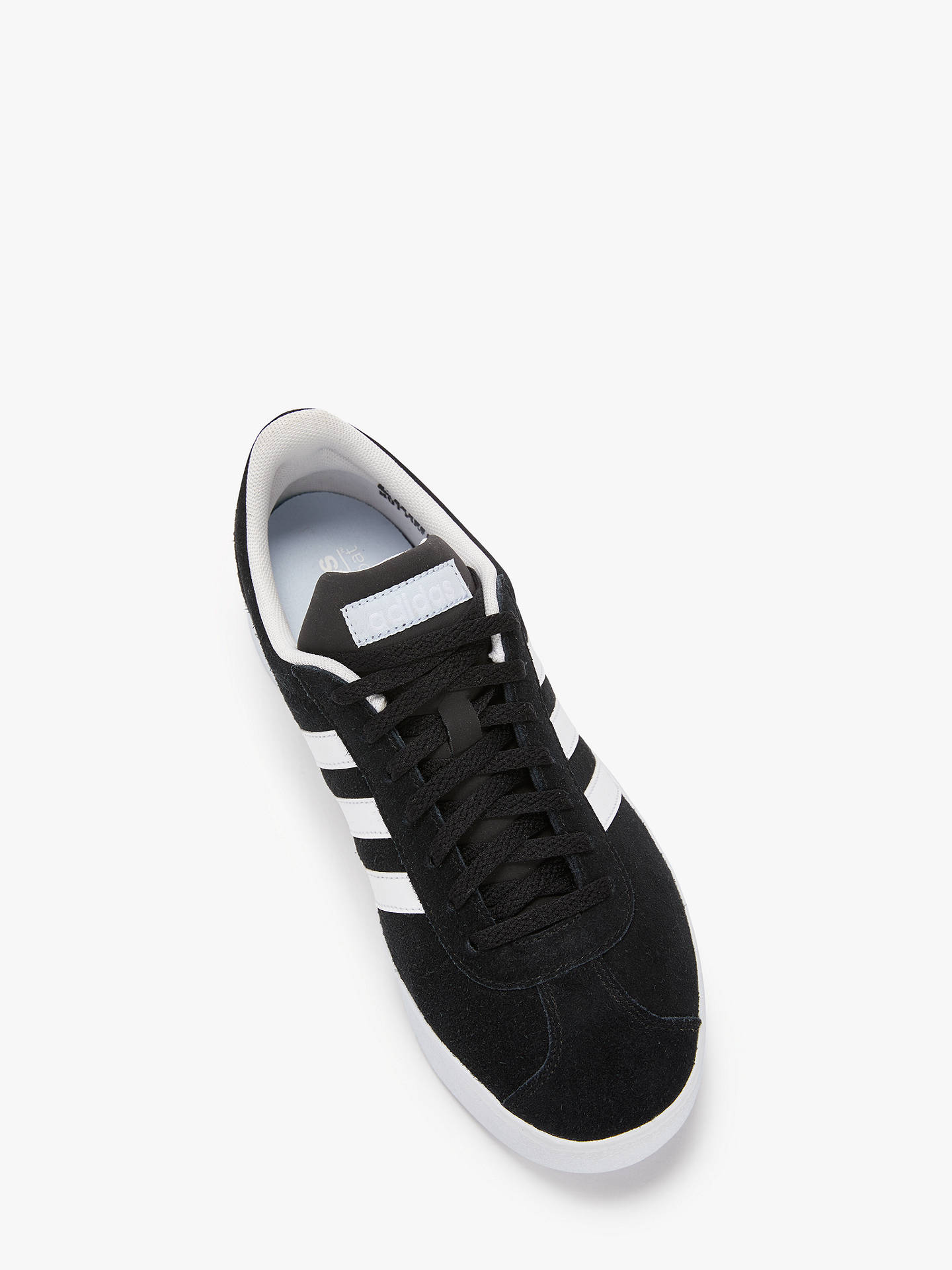 Buy adidas VL 2.0 Court Women's Trainers, Core Black, 4 Online at johnlewis.com