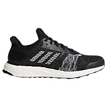 Buy Adidas UltraBOOST ST Men's Running Shoes, Black Online at johnlewis.com