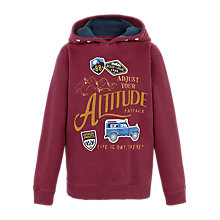 Buy Fat Face Boys' Adjust Altitude Hoodie, Red Online at johnlewis.com