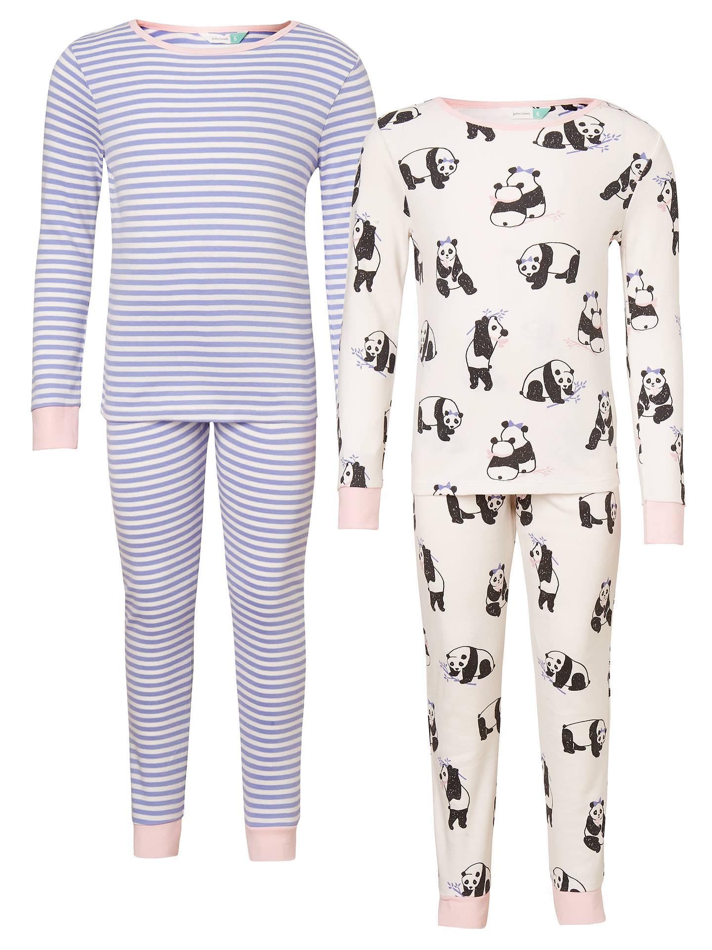 BuyJohn Lewis Children s Panda Print Pyjamas 94262691b