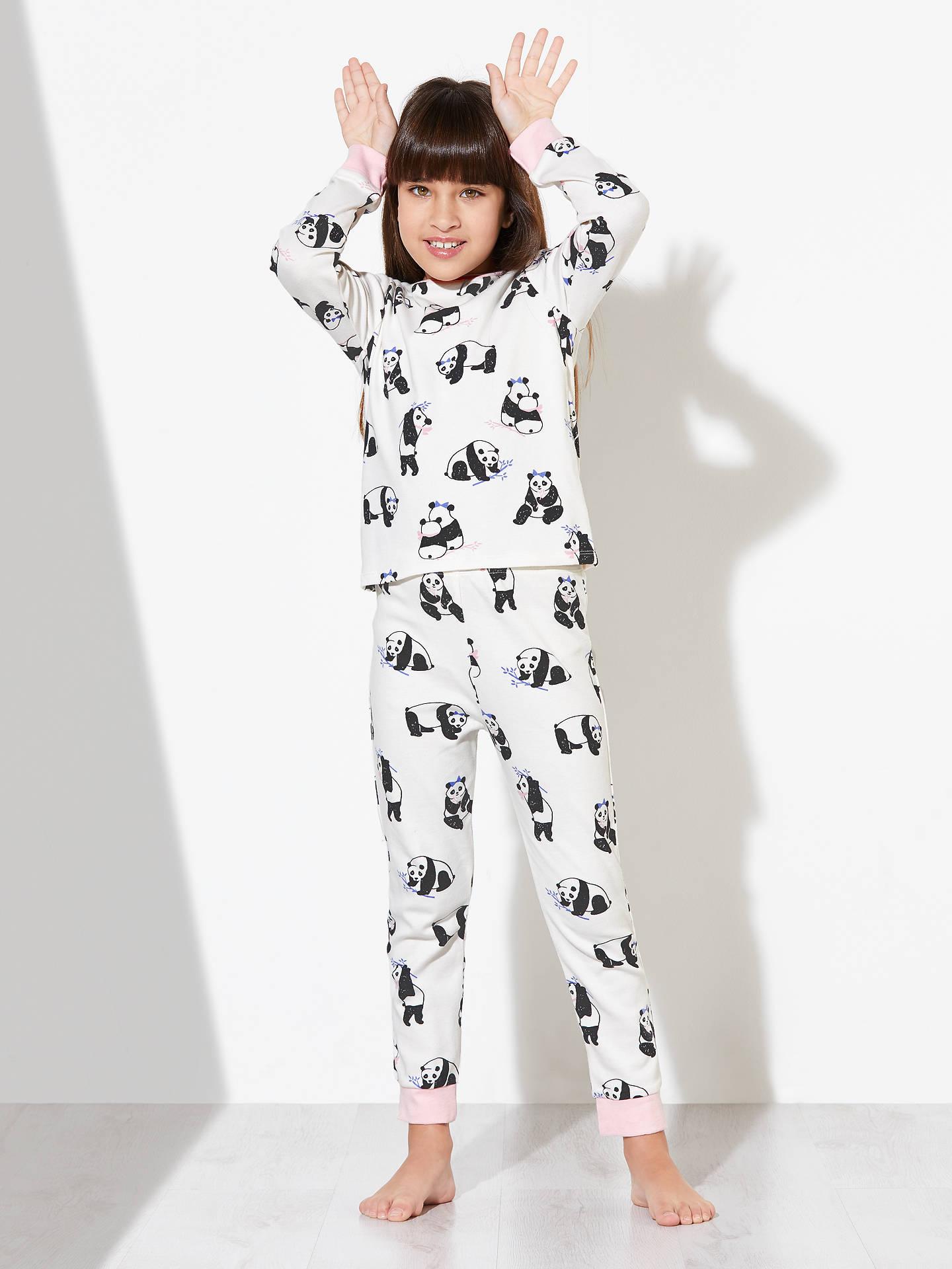John Lewis Children\'s Panda Print Pyjamas, Pack of 2, Pink/Blue at ...