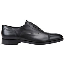 Buy Geox Hampstead Leather Oxford Shoes, Black Online at johnlewis.com