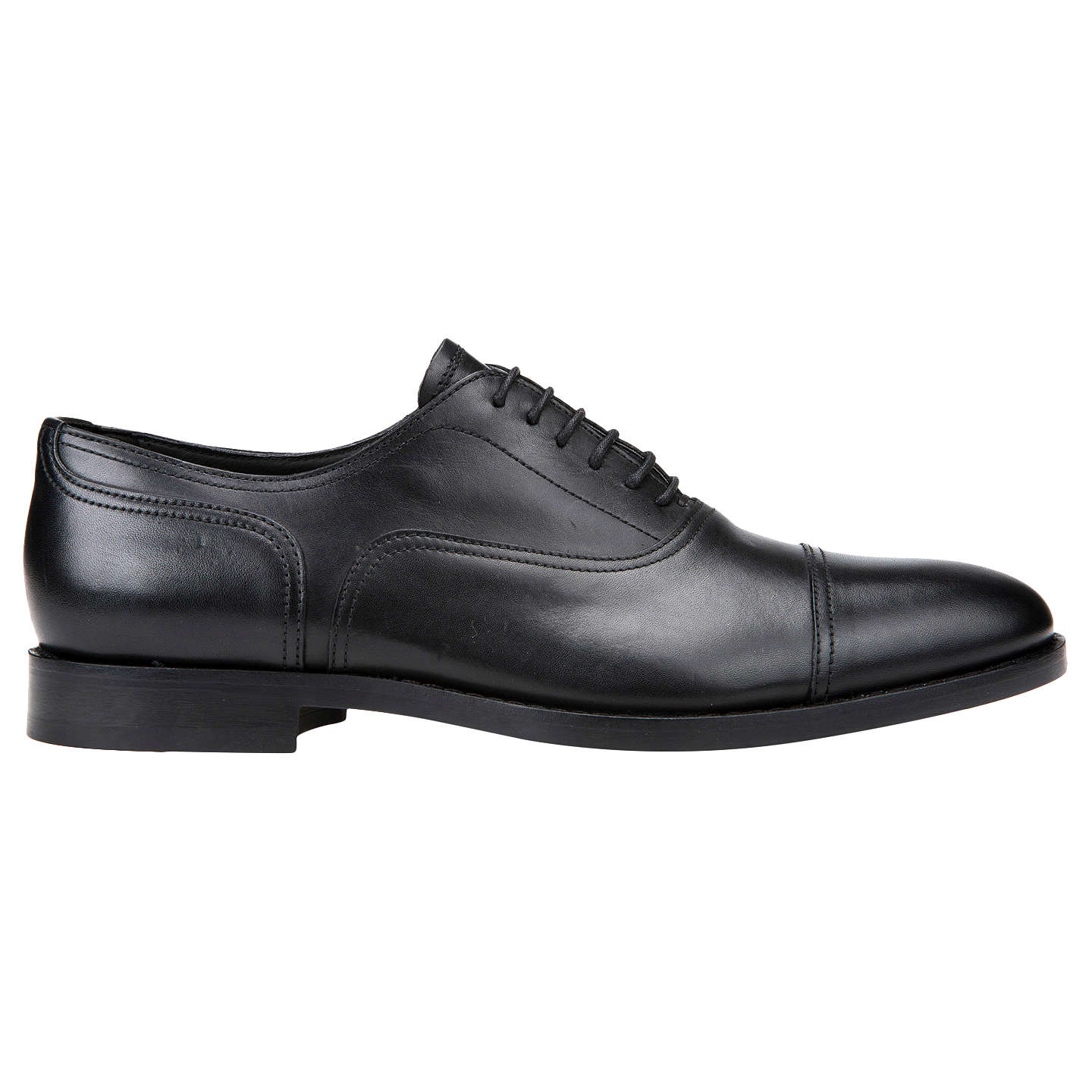 BuyGeox Hampstead Leather Oxford Shoes, Black, 7 Online at johnlewis.com ...