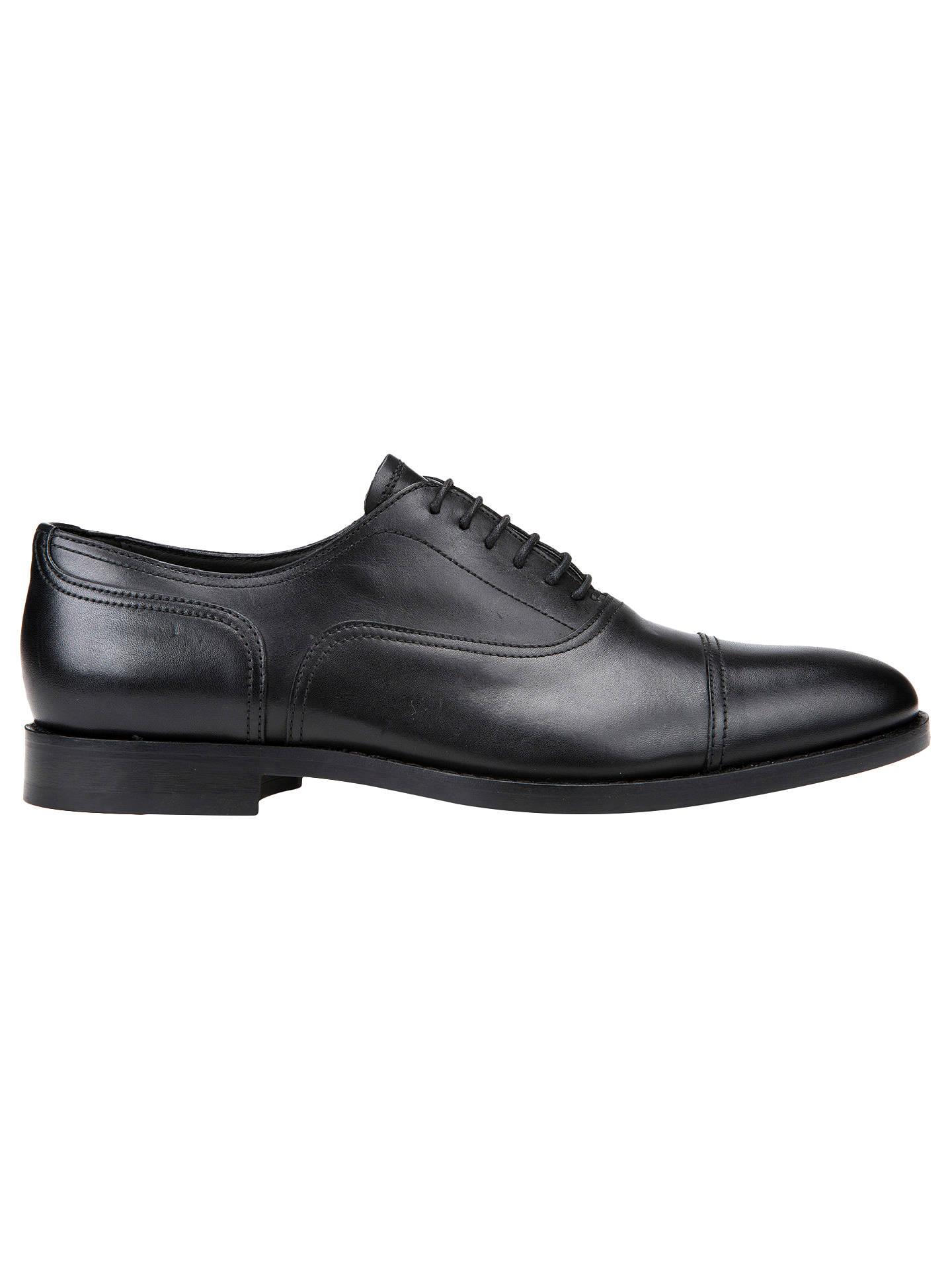 pasar por alto Shuraba Fragua  Geox Hampstead Leather Oxford Shoes, Black at John Lewis & Partners