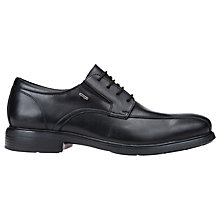 Buy Geox Dublin Leather Derby Shoes, Black Online at johnlewis.com
