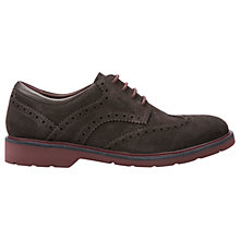 Buy Geox Garret Suede Oxford Brogues, Mud Online at johnlewis.com