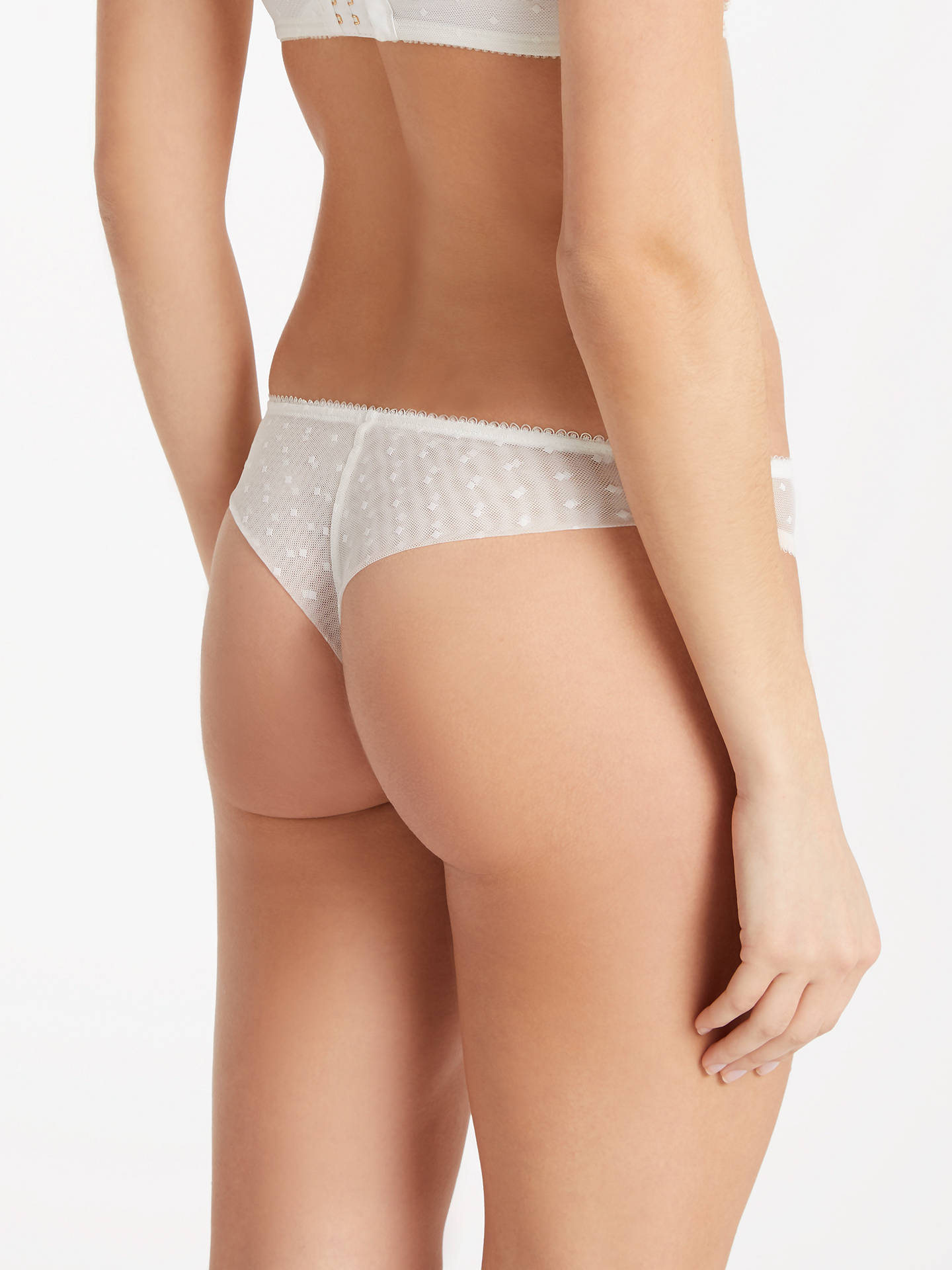 Buy Somerset by Alice Temperley Lea Bridal Brazilian Briefs, Cream, M Online at johnlewis.com