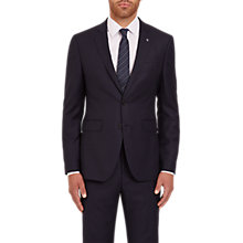 Buy Jaeger Textured Wool Regular Fit Suit Jacket, Navy Online at johnlewis.com