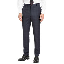 Buy Jaeger Glen Check Slim Fit Trousers, Navy Online at johnlewis.com