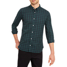 Buy Jaeger Check Casual Shirt, Green Online at johnlewis.com