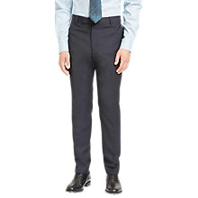 Buy Jaeger Super 100s Wool Mouline Slim Fit Suit Trousers, Navy Online at johnlewis.com