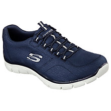 Buy Skechers Empire Take Charge Slip On Trainers, Navy Online at johnlewis.com