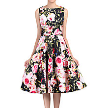 Buy Jolie Moi Floral Print Crossover Dress, Black/Multi Online at johnlewis.com