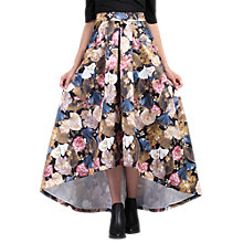 Buy Jolie Moi High Low Hem Floral Prom Skirt, Khaki Pattern Online at johnlewis.com