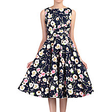 Buy Jolie Moi Floral Print Crossover Dress, Navy/Multi Online at johnlewis.com