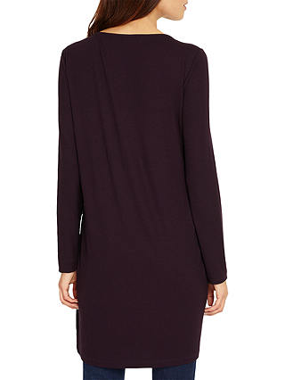 NEW Phase Eight Veronica Jersey Tunic Top Deadly Nightshade Purple Lilac Sz 8-18