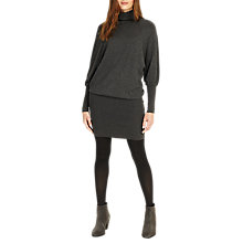 Buy Phase Eight Rina Roll Neck Dress, Charcoal Marl Online at johnlewis.com